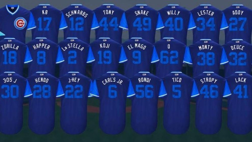 e52e79ed1 Here are the Chicago Cubs Players Weekend Jerseys nicknames ...